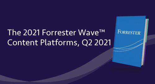 Forrester Wave, utvärdering av innehållsplattformar 2021