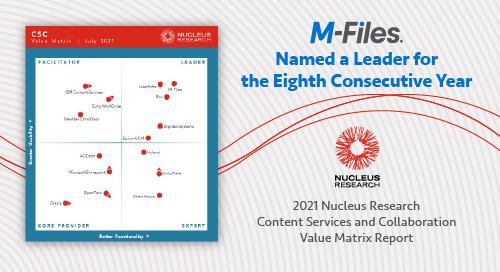 Nucleus Research: Content Services and Collaboration Value Matrix 2021