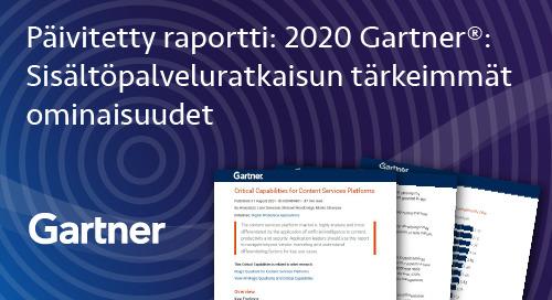 M-Files sai korkeimman arvion kahdessa kategoriassa päivitetyssä Gartner®: Critical Capabilities For Content Services Platforms -raportissa