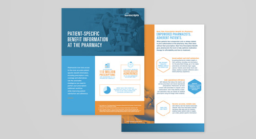 Patient Specific Benefit Information at the Pharmacy