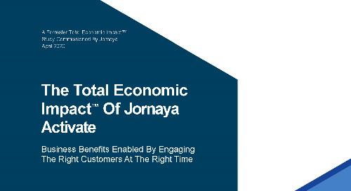 Total Economic Impact of Jornaya Activate & Behavioral Data in Marketing