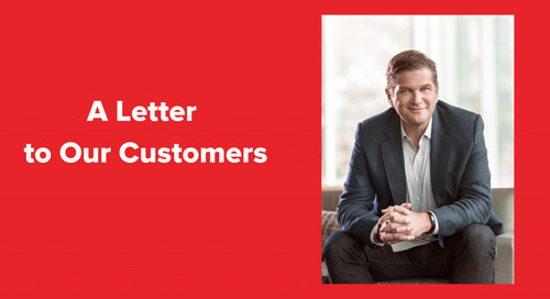 A Letter to Our Customers
