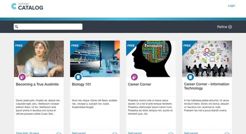 Four Ways Canvas Catalog Solves Your Skills-Based Learning Challenges