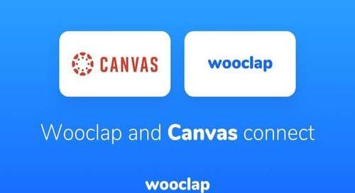 Wooclap Launches Canvas Integration