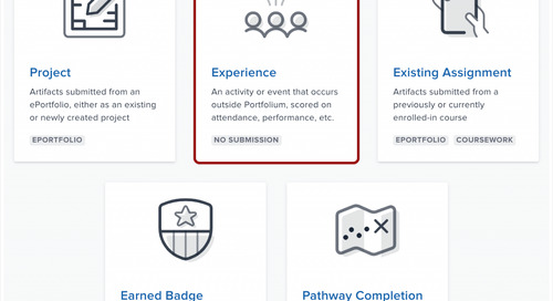 """Announcing new """"experience"""" requirements and reviewer capabilities in Portfolium"""