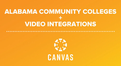 Canvas Studio and Video Integrations Support Distance Learning at Alabama Community College System Institutions