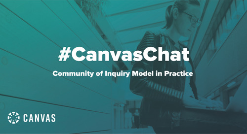 #CanvasChat: Community of Inquiry Model in Practice