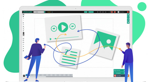 Enhance Self-Paced Courses with Online Whiteboard Gamification