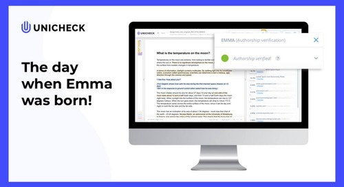 Unicheck's AI-based Emma to Prevent Contract Cheating and Create Personal Learning Moments