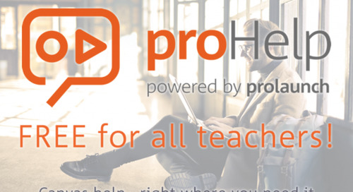 Prolaunch Releases Canvas proHelp Free For Teachers