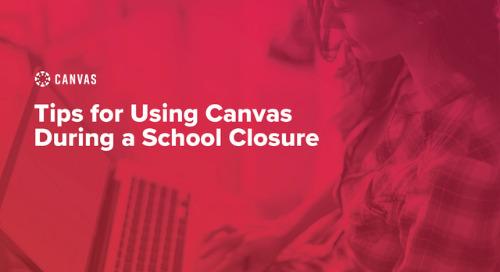 Using Canvas During School Closures