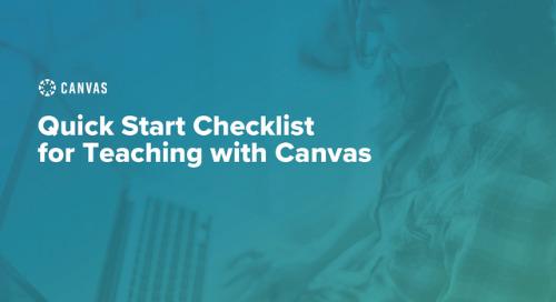 Canvas Quick Start Checklist