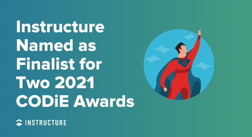 Instructure Named as Finalist for Two 2021 CODiE Awards