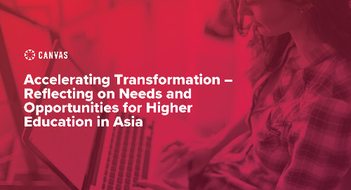 Accelerating Transformation – reflecting on needs and opportunities for higher education in Asia