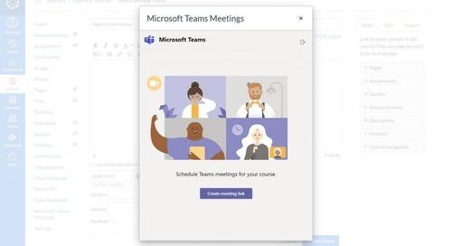 Canvas integra Microsoft Teams para que todos estén conectados