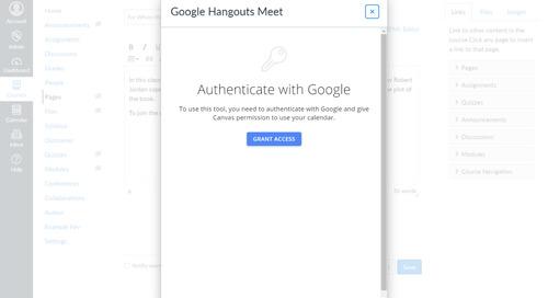 Canvas se integra con Google Hangouts Meet