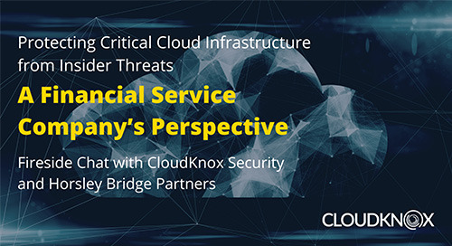 Protecting Critical Cloud Infrastructure from Insider Threats