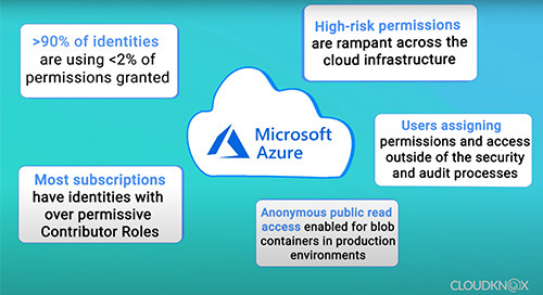 Azure Cloud Infrastructure Security Findings from CloudKnox