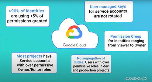 GCP Cloud Infrastructure Security Findings from CloudKnox