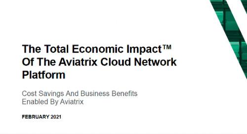 Press Release: 2021 Total Economic Impact™ Study of the Aviatrix Cloud Network Platform Shows 222% ROI