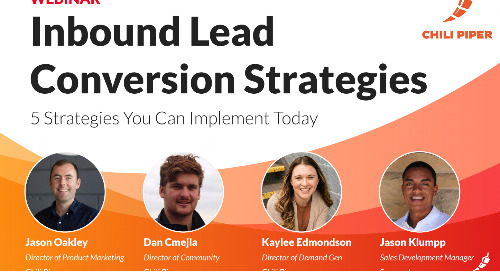 Inbound Lead Conversion Strategies Webinar – 5 Strategies You Can Implement Today