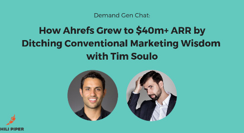 How Ahrefs Grew to $40m+ ARR by Ditching Conventional Marketing Wisdom with Tim Soulo