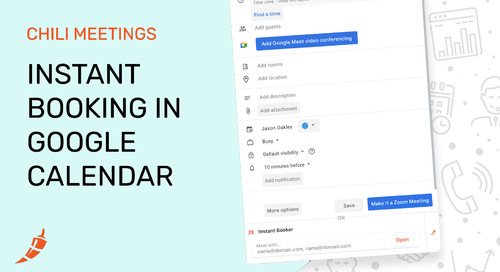 Instant Booking in Google Calendar