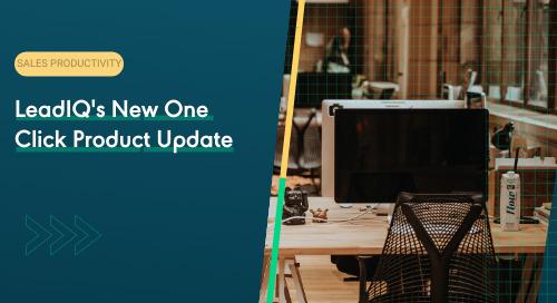 LeadIQ's New One Click Product Update