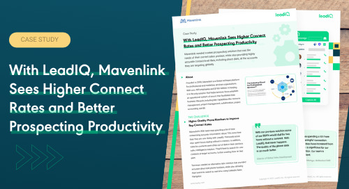 Mavenlink Sees Higher Connect Rates and Better Prospecting Productivity