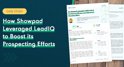 How Showpad leveraged LeadIQ to boost its prospecting efforts