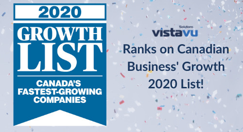 VistaVu Solutions Ranks on Canadian Business' Growth 2020 List