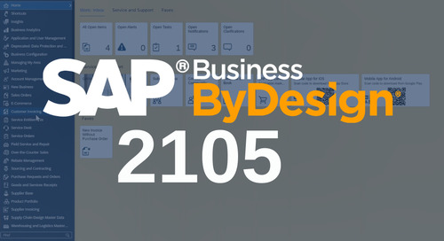 What's New in SAP Business ByDesign 2105?