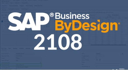 SAP Business ByDesign Release | 21.08