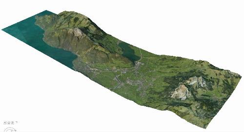 3D Surface Model: Collada | Vitznau, Switzerland