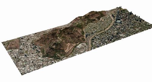 3D Surface Model: Vricon format | Santiago, Chile