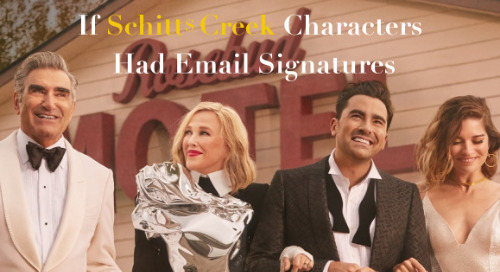 If Schitt's Creek Characters Had Email Signatures