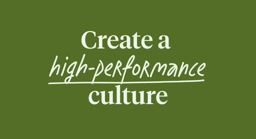 Create a high-performance culture