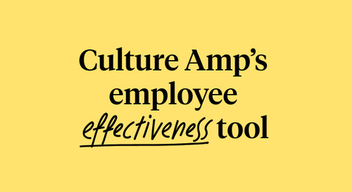 The Science Behind Culture Amp's Employee Effectiveness Tool