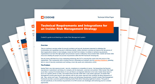 Technical Requirements and Integrations for an Insider Risk Management Strategy