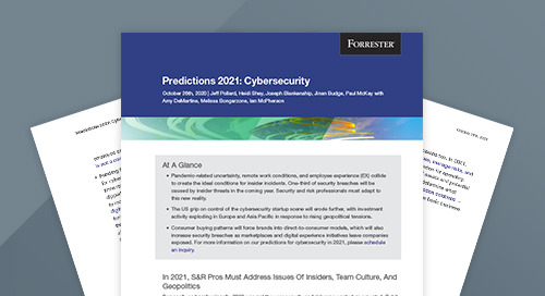 Forrester Paper: Predictions 2021: Cybersecurity
