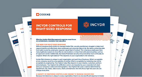 Incydr Controls for Right-Sized Response