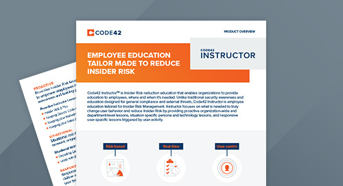 Code42 Instructor Product Overview