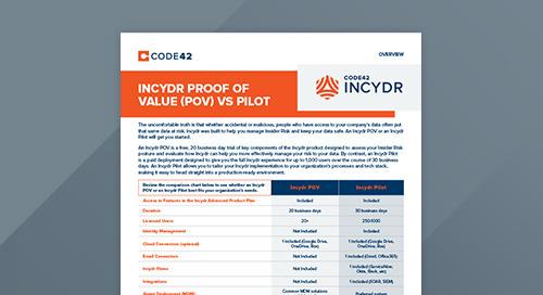 Incydr Proof of Value (POV) vs Pilot