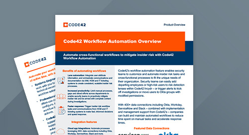 Code42 Workflow Automation Overview