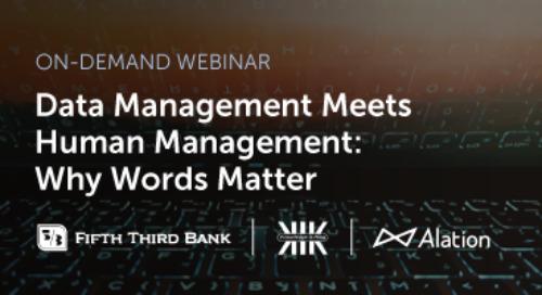 Data Management Meets Human Management: Why Words Matter