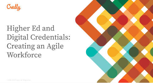 Higher Ed and Digital Credentials: Creating an Agile Workforce
