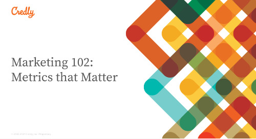 Marketing 102: Metrics that Matter
