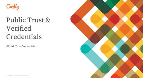 Public Trust and Verified Credentials
