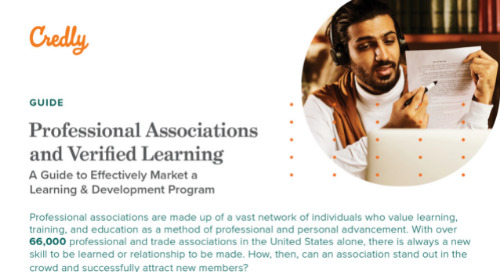 Credly Professional Associations and Verified Learning Guide
