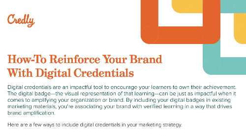 Credly How-To Reinforce Your Brand With Digital Credentials Infographic